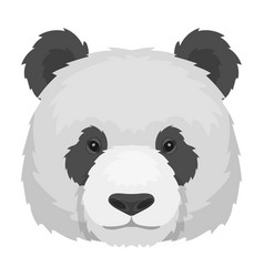 panda icon in monochrome style isolated on white vector image