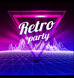 retro party poster 1980 style vector image vector image