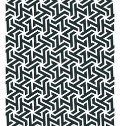 Seamless pattern with geometric tessellation style vector