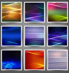 Set of blend abstract color wave vector
