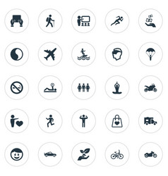 Set of simple health icons vector