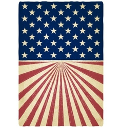 stripes and stars old background vector image vector image