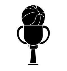 Trophy basketball sport image pictogram vector