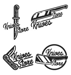 Vintage knives store emblems vector