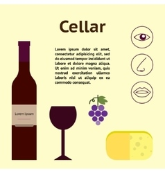 Wine cellar decorative vector image