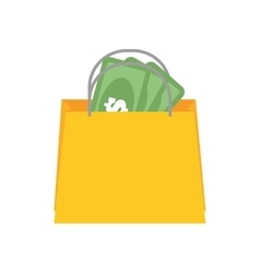 Shopping bag commerce consumerism icon vector