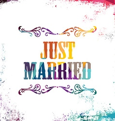 Just married bstract colorful triangle geometrical vector