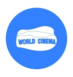 World cinema sign icon in black style isolated on vector