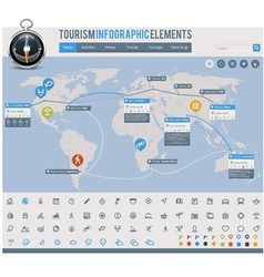 Tourism infographic elements vector image