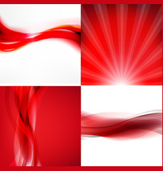 Red banners set vector