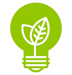 Green ecology light bulb icon vector image