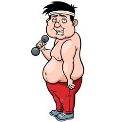 Fat man vector
