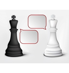 Dialog of white and black kings vector