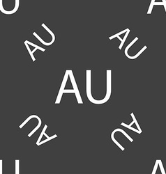 Australia sign icon seamless pattern on a gray vector