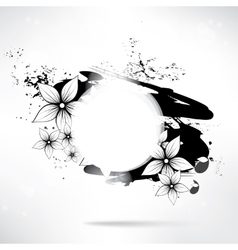 Abstract floral background with frame for text vector