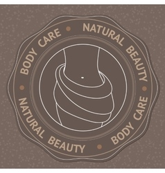 With body care natural beauty vector