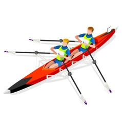 Canoe rowing 2016 sports isometric 3d vector