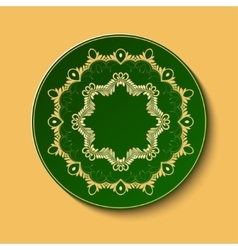 Plate with ornament vector image