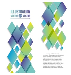 abstract background of blue and green diamonds vector image