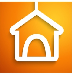 Applique doghouse icon frame vector