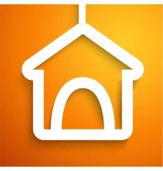 Applique doghouse icon frame vector image