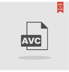 AVC Icon concept for design vector image vector image