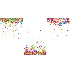 Backgrounds set with color confetti vector image vector image