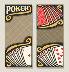 Banners for poker vector
