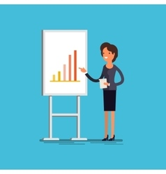 Business concept cartoon businesswoman vector