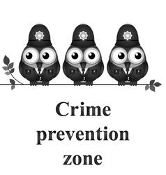 Crime prevention zone vector