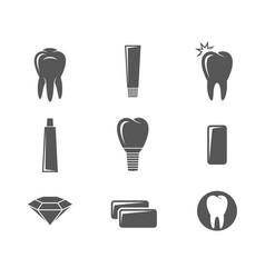 Dental hygiene icon set vector