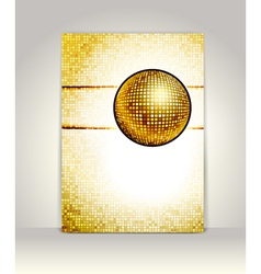 disco card vector image