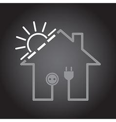 House as solar circuit vector image