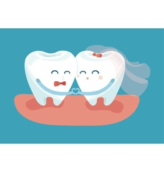 In love teeth vector