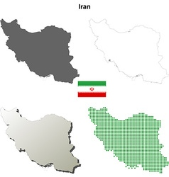 Iran outline map set vector image