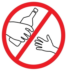 No alcohol for kids vector