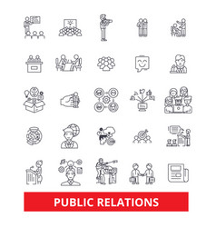 Pubility fame advertising public relations vector