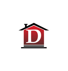 real estate initial d vector image vector image