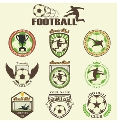 Set of Soccer Football vector image