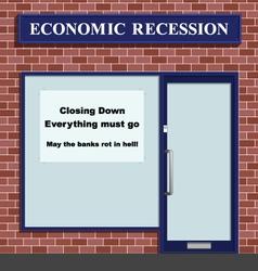 Shop closing down vector