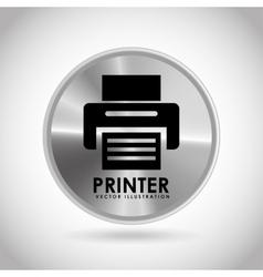 Tech silver button vector