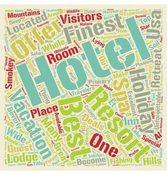 The best five hotels of usa text background vector