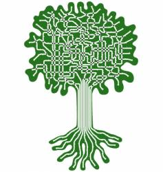 tree system vector image