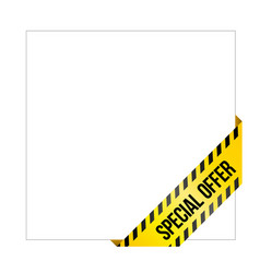yellow caution tape with words special offer vector image vector image