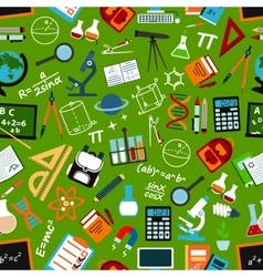 School education and science seamless pattern vector image