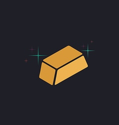 gold bars computer symbol vector image