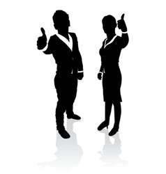 Business people thumbs up vector