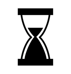 hourglass time isolated icon vector image