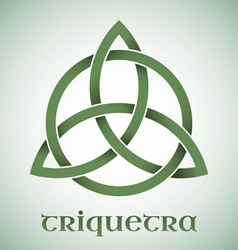 Triquetra symbol with gradients vector