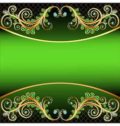 Background with jewels and ornaments stripe for te vector